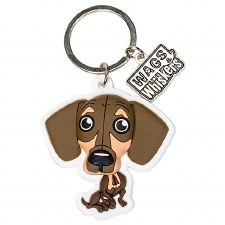 Wags & Whiskers Dog Keychain- Dachshund