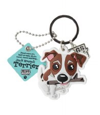 Wags & Whiskers Dog Keychain- Jack Russel Terrier