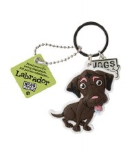 Wags & Whiskers Dog Keychain- Labrador, Brown