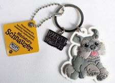 Wags & Whiskers Dog Keychain- Schnauzers, Miniature
