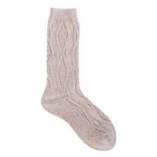 Cable Crew Sock- Pink Confetti