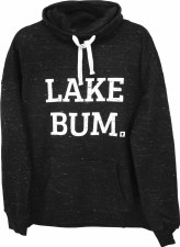 Lake Bum Heathered Black Sweatshirt- XL
