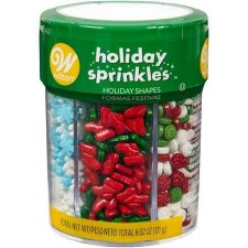 Holiday Baking- Sprinkles, 6 Cell Assortment: Holiday &Christmas Mix