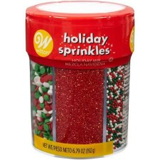 Holiday Baking- Sprinkles, 6 Cell Assortment: Holiday Mix