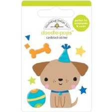 Party Time Doodle-Pops Stickers- Yappy Bday