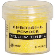 Embossing Powder- Tinsel, Yellow
