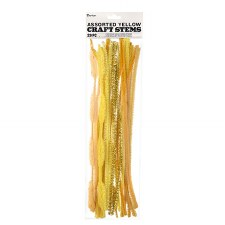 Chenille Craft Stem Assortment- Yellow Mix