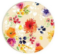 Car Coaster- Floral Print, Yellow