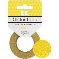 Best Creation Glitter Tape- Yellow