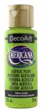 Americana Acrylic Paint, 2oz- Greens: Yellow Green