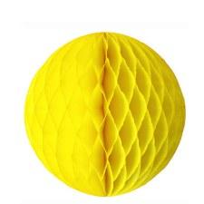 "Honeycomb 8"" Ball Decoration- Yellow"