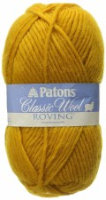 Patons Classic Wool Roving Yarn- Yellow