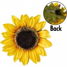 "Yellow Sunflower Clip 6"""