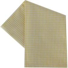 "Mini Check 20""x28"" Tea Towel- White & Yellow"