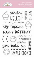 Made With Love Stamps/Dies- You Bake Me Happy Doodle Stamps