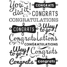 Darice Embossing Folder- Phrases- You Did It!