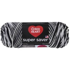 Red Heart Super Saver Yarn, Mulit-Color- Zebra