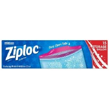 Ziploc Gallon Storage Bags, 15ct- Fireworks