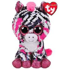 Beanie Flippable Sequins Collection- Zoey the Zebra