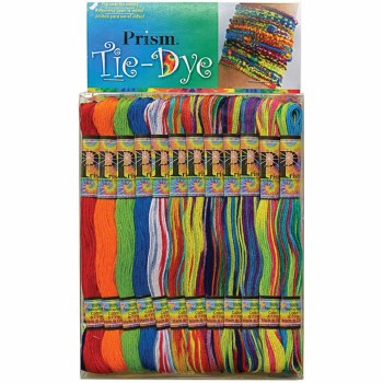 Embroidery Floss Pack, 24ct- Tie Dye
