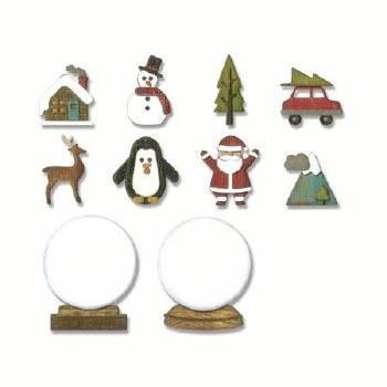 Tim Holtz Christmas Thinlits- Tiny Snowglobes