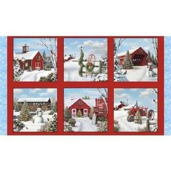 Christmas & Winter Fabric Panel- Tis the Season
