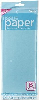 Tissue Paper Sheets - Light Blue 8pc.
