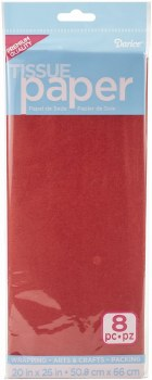 Tissue Paper Sheets - Red 8pc.