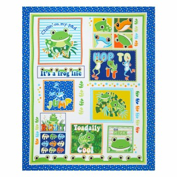 Kids Fabric Panel- Toadally Cool