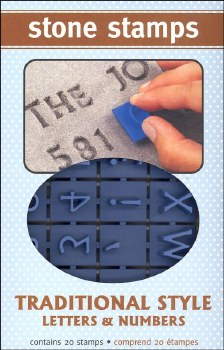 Stone Stamps- Traditional Letters & Numbers