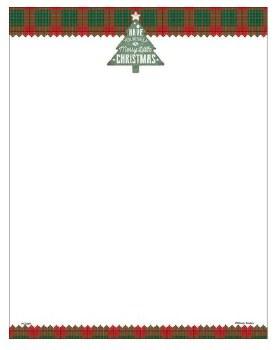 Holiday Letterhead- Plaid Tree
