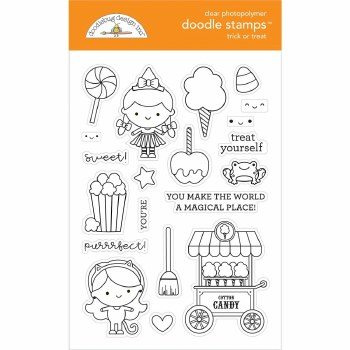 Candy Carnvial Stamps/Dies- Trick or Treat Doodle Stamps
