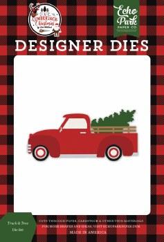 A Lumberjack Christmas Designer Dies- Truck & Tree