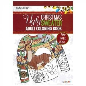 Adult Coloring Book- Ugly Christmas Sweater