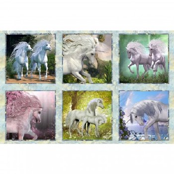 Fabric Panel- Unicorns
