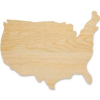 USA Plaque - Natural