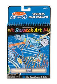 Melissa & Doug On The Go Scratch Art- Vehicles