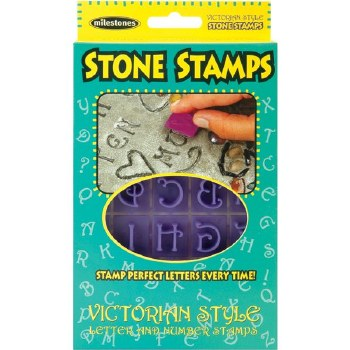 Stone Stamps- Victorian Letters & Numbers