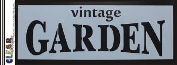 """Clear Scraps 6x16"""" Stencil- Vintage Garden"""