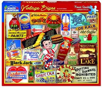 Vintage Signs - 1,000 Piece Puzzle