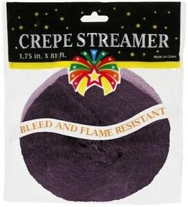81' Violet Crepe Streamer