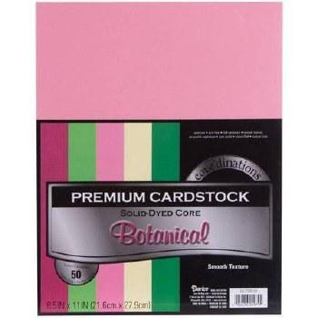 """8.5x11"""" Premium Cardstock, 50ct- Botanical"""