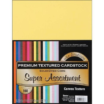 "8.5x11"" Premium Cardstock, 160ct- Super Textured Assortment"