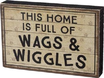 Wood Box Sign- Wags & Wiggles