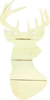 Deer Head Pallet Plaque