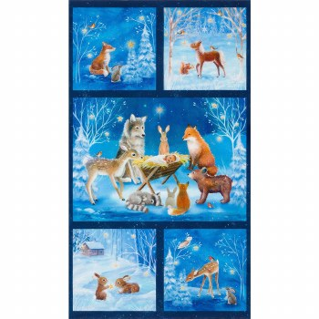 Christmas & Winter Fabric Panel- Warm Wishes