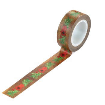 A Cozy Christmas Washi Tape- Floral Swag