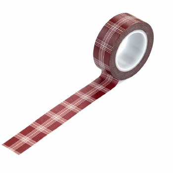 A Cozy Christmas Washi Tape- Holiday Plaid
