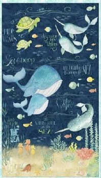 Animals Fabric Panel- Water Wishes