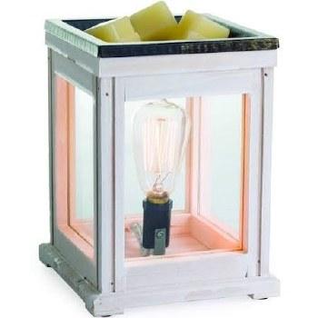 Illumination Fragrance Warmer w/ Edison Bulb- Weathered Wood